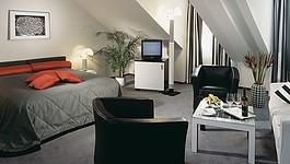 Hotel Seeburg Designer Junior Suite Black and White